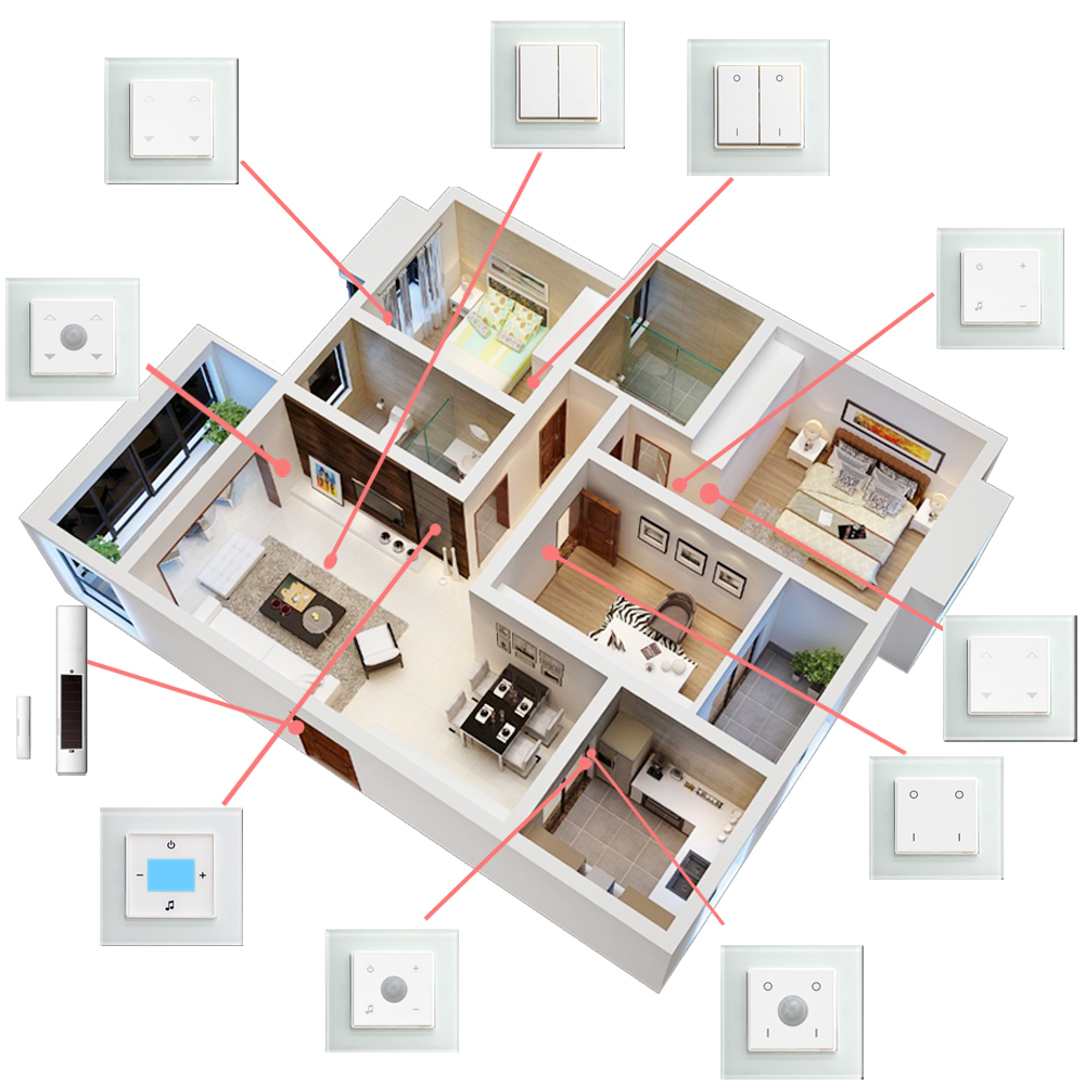 New design wifi smart home automation system for touch light switch buy touch light switch Home wifi architecture