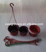 decorative hanging flower pot, hanging type flower pot,plastic basket flower pot