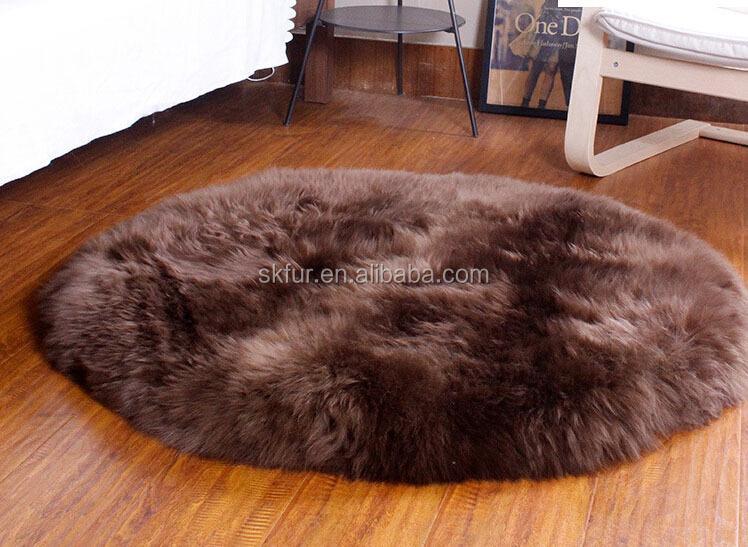 rund und dicken langen haar schaffell fell teppich-Teppich-Produkt ...