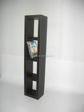 Faux leather cd display rack