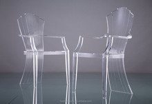 clear leisure acrylic desk plastic back chair with arms
