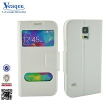 Veaqee high quality wallet leather flip stand cases for sansung galaxy s5