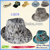 2014 Newest Promotion Popular Silver Bulk Price Fedora Hat/Party Hat,LSF78