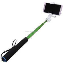 Extendable Self Portrait Selfie go pro monopod holding stick with Aluminum alloy material for extra sport