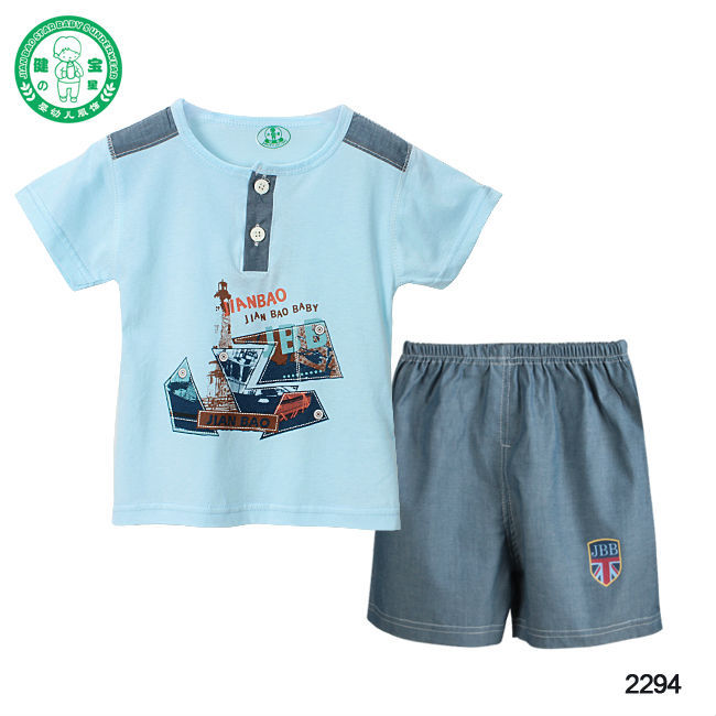Eco Friendly Short Sleeve Cotton Summer Baby Boy Clothes
