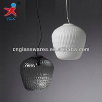 hand blown colored hanging glass lamp shade pendant