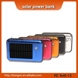 portable power bank solar panel 10000mah solar power bank charger ,waterproof power bank