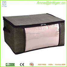 Large jumbo zipper plastic quilt storage bag