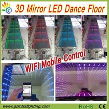 Hot sale! 3D Mirror light weight led dance floor for disco /3D Digital LED Dance Floor