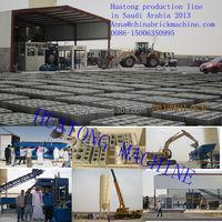 HOT!! Automatic Concrete Block Making Machine/Concrete Vibrator Making Hollow Brick