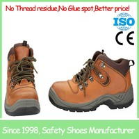 SF866 Crazy horse leather brown construction sport safety shoes