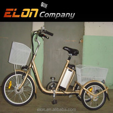3 wheel popular design electric tricycle(E-TDR03 golden gray)