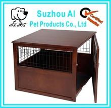 Indoor Pet Crate Large Cage End Table Furniture Wooden Dog Kennel