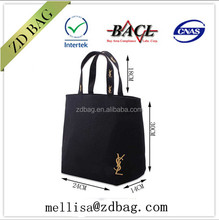 new model hot sale fashion custom own logo printing foldable cotton shopping bag for promotion gift