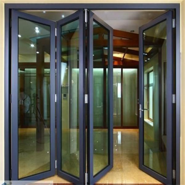 Plegable de aluminio puertas plegable precio de la puerta - Puerta corredera plegable ...