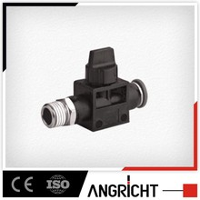 A333 plastic hand valve male and female water swivel hose connector