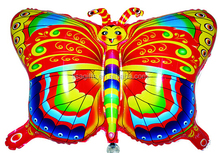 helium foil balloons with butterfly drawing