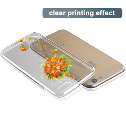 For iphone 6s case transparent mobile phone case sunflower TPU Phone Case