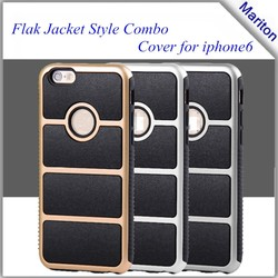2 in 1 PC + TPU Hybrid Cover for iPhone 6 Flak Jacket Case