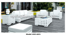 2015 Milan Outdoor flower wicker Garden sectional rattan Corner Sofa/lounge rattan furniture UGO-A021