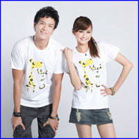 Hot sale white t-shirts wholesale printed t-shirts for couple 100 cotton algodon t-shirts