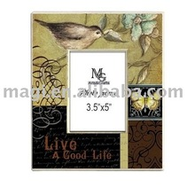 New Style Bird and Letter Wooden Photo Frame