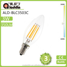 fast delivery 3w c35 candle led lighting with bottom price