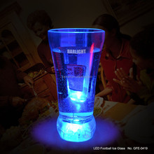 For Thanksgiving day 400ml big ice glass flashing blue led light up glass