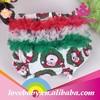OEM factory polka dot toddler infant ruffle santa baby underwear for Christmas day