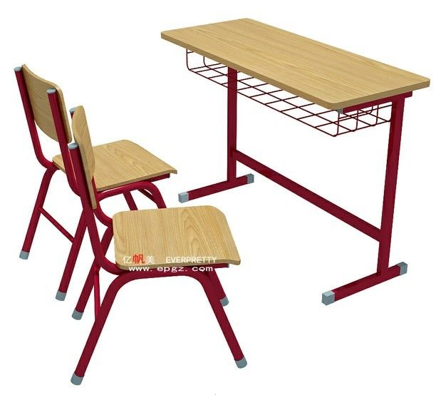 School Furniture Manufacturer Student Double Desk Chairs With Mdf Top School