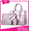 Hot sale ladies 5 Pieces in 1 Set Lash Package bags handbags fashionable 2015 for Travelling lower price bags