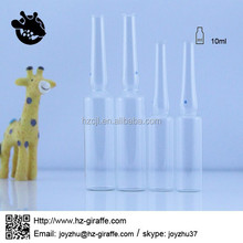 5ml 10ml pharmaceutical clear ampoule glass vial for injection