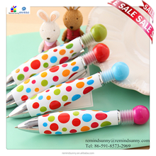 2015 high quality fat bowling pen with dot printing customized your logo