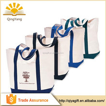 China 2015 custom logo printing recyclable promotional shopping cotton canvas bag