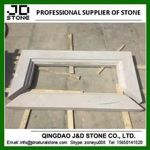 stone window frame, white sandstone window