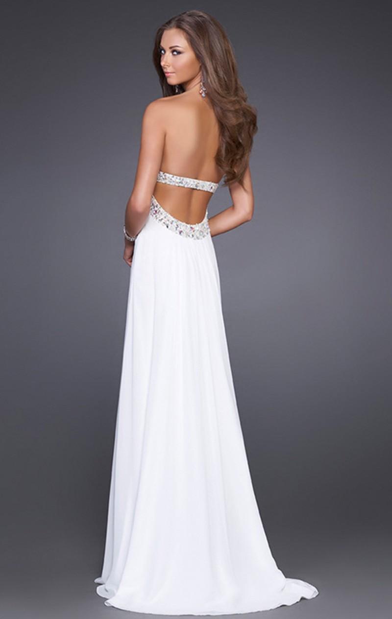 Cheap White Strapless Dresses