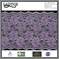 Nylon/ spandex elastic tricot lace for lady's inner wear ang garment