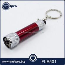 Small mini cheap promotional keychain led aluminum flashlight