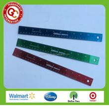 Wholesale custom 30cm aluminium scale ruler for office use