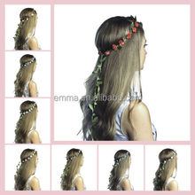 2015 Wholesales Boutique of top quality rose flower elastic headband flower headband H5077