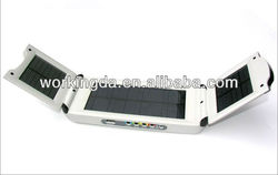 2.5W Portable&Foldable Universal Backup Solar Emergency Charger for Laptop and mobile phones with multi voltage