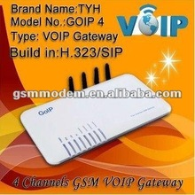 GOIP gateway 4 port Voip GSM Gateway gsm modem gateway auto change IMEI/voip mobile phone with dual sim