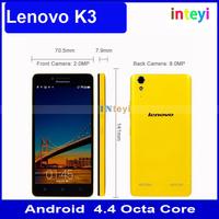 Original Unlocked Lenovo K3 K30-W 4G lte dual sim 5 inch IPS 1280*720 screen original lenovo smartphone