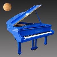 High Quality Blue HG-186B Grand Piano for Sale, Better than Japanese Used Pianos