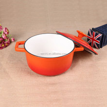Orange Enamel cast iron small milk pot la sera cookware