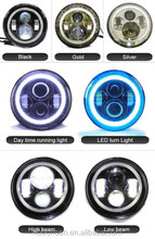 PAR56 hot product uper bright 7inch LED Headlight with halo for JEEP Wrangler offroad