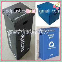 Corrugated plastic waste bin/recycle bin/trash bin