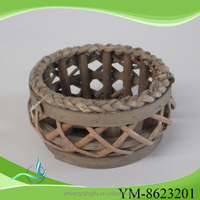 Elegant Small Round Willow Candle Holder