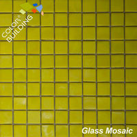 Gold Rainbow Color Glass Mosaic Tile