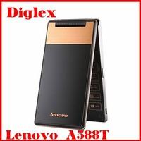Original Lenovo A588T Vertical Flip Smart Phone 4 Inch MTK6582 Quad Core Android 4.4 Mobile Phone 5MP Camera Dual Sim GSM Phone